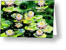 Eight #waterlilies Greeting Card
