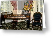 Eighteenth Century Piano And Parlor Greeting Card