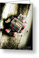 Eighties Cybernetic Droid  Greeting Card