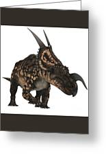 Einiosaurus On White Greeting Card
