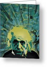 Einstein Greeting Card by Iosua Tai Taeoalii