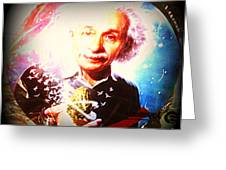 Einstein On Pot Greeting Card
