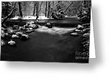 Eisbach In The Winter Greeting Card