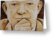 Eisenhower - The Man  Greeting Card