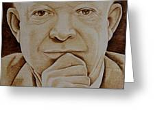 Eisenhower The Man - Poster Greeting Card