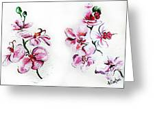 Either Orchid Greeting Card