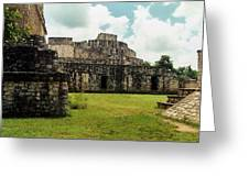 Ek Balam Oval Palace Greeting Card