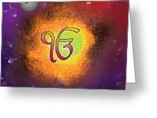 Ek Onkar Galaxy Greeting Card