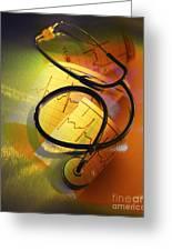 Ekg Stethoscope Composite Greeting Card