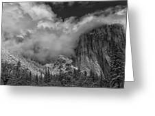 El Capitan And The Stormy Clouds Greeting Card