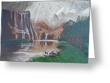 El Capitan Falls Greeting Card