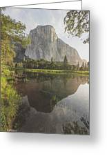 El Capitan In Reflection Greeting Card