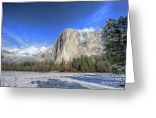 El Capitan Meadow Winter Yosemite National Park II Greeting Card