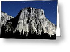 El Capitan Under A Full Moon Greeting Card