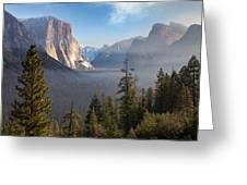 El Capitan Valley View Greeting Card