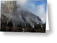El Capitan Yosemite Clearing Storm Greeting Card