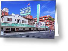 El Cortez Hotel On Fremont Street 2.5 To 1 Ratio Greeting Card
