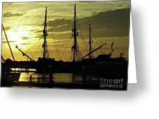 El Galeon Sunrise Greeting Card