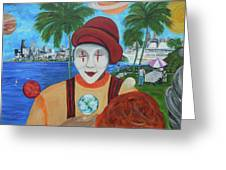 El Payaso Es Greeting Card