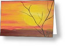 el Sol en Pleno Otono Greeting Card