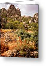El Torcal Rock Formations Greeting Card