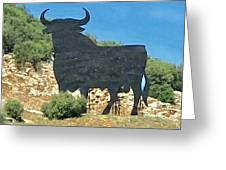 El Toro In The Andalucian Countryside Greeting Card