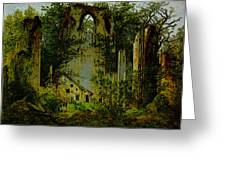 Eldena Ruin Cdf Greeting Card