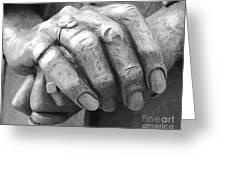 Elderly Hands Greeting Card