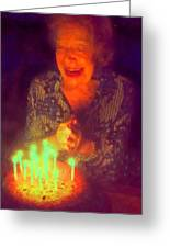 Elderly Joy Greeting Card