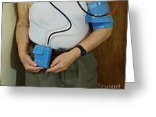 Elderly Man Wearing A Blood Pressure Greeting Card