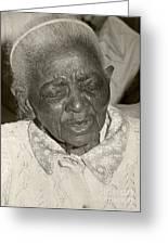Elderly Woman Greeting Card