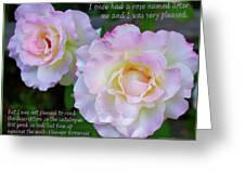 Eleanor Roosevelt Roses Greeting Card