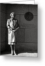 Eleanor Roosevelt Sculpture  Greeting Card