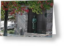 Eleanor's Alcove At The Fdr Memorial In Washington Dc Greeting Card