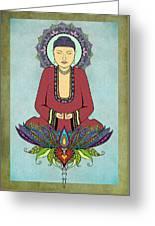 Electric Buddha Greeting Card