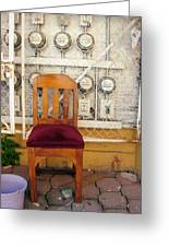 Electric Chair Greeting Card