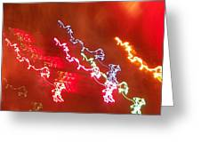 Electric Dazzle Abstract Greeting Card