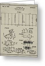 Electric Football Patent 1955 Aged Gray Greeting Card