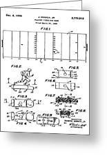 Electric Football Patent 1955 Greeting Card