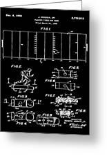 Electric Football Patent 1955 Black Greeting Card