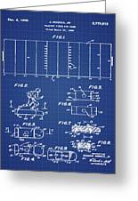 Electric Football Patent 1955 Blueprint Greeting Card
