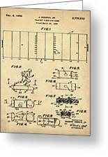 Electric Football Patent 1955 Sepia Greeting Card