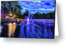 Electric Fountain  Greeting Card