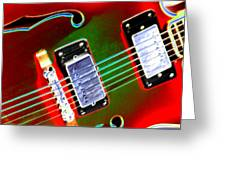 Electric Guitar Greeting Card by Peter  McIntosh