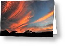 Electric Hawaiian Sunset Big Island Hawaii Greeting Card
