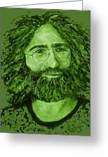 Electric Jerry Olive - T-shirts-etc Greeting Card