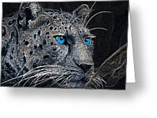 Electric Leopard Greeting Card
