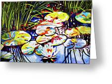 Electric Lillypads Greeting Card