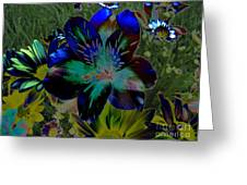 Electric Lily Greeting Card