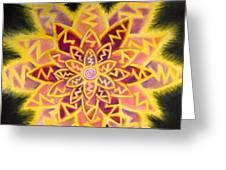 Electric Lotus Greeting Card